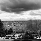 Kisses on a cloudy day - Paris France by Norman Repacholi