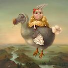 Flying Dodo. Prints on Premium Canvas.  by Irena Aizen