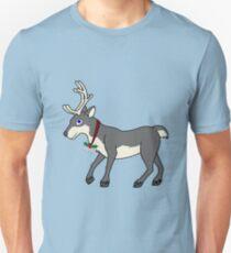 Gray Reindeer with Silver Christmas Jingle Bells T-Shirt