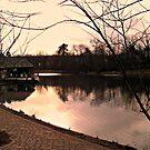 Sunset Over The Lake, Verona Park, Verona NJ by Jane Neill-Hancock