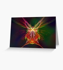 Apophysis Butterfly Greeting Card