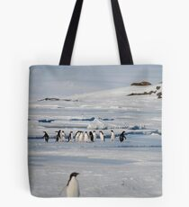 Browning Peninsula Adventure Penguins - Antarctica Tote Bag