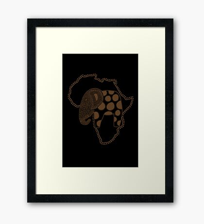 An Elephant in Africa Framed Print