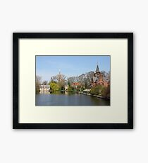 Minnewater in Bruges,  Belguim Framed Print