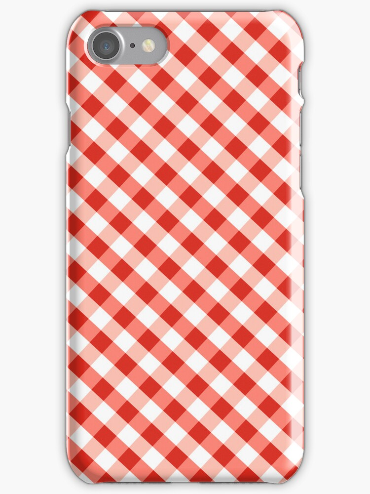 Red Gingham Case iPhone 2012 by rupydetequila