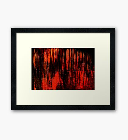 Liquid Love in Red Framed Print