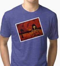 Ukulele Lady Postcard Tri-blend T-Shirt