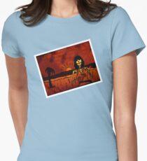 Ukulele Lady Postcard Women's Fitted T-Shirt