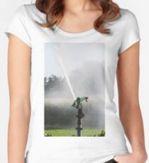 irrigation fields Women's Fitted Scoop T-Shirt