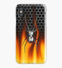 Chrome Black Widow and fire iPhone Case/Skin