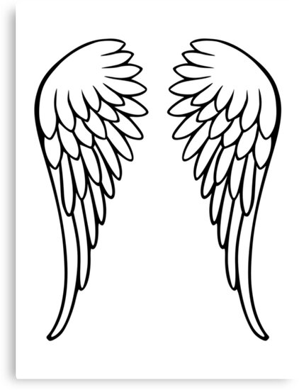 Quot Angel Wings Quot Canvas Prints By Designzz Redbubble