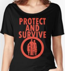Protect And Survive Boy Women's Relaxed Fit T-Shirt