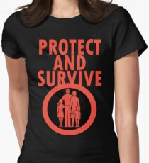 Protect And Survive Boy Women's Fitted T-Shirt