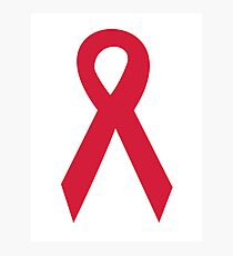 Aids ribbon Photographic Print