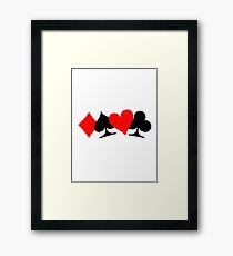 Poker cards Framed Print