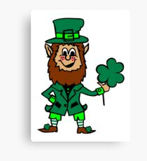 Leprechaun St. Patricks Day Canvas Print