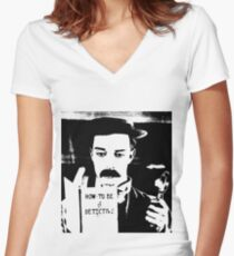 buster. how to be a detective. Women's Fitted V-Neck T-Shirt