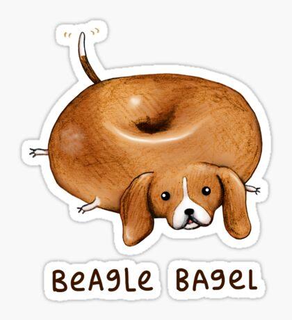 Beagle Bagel Sticker