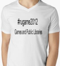 rugame2012 - Games and Public Libraries Men's V-Neck T-Shirt