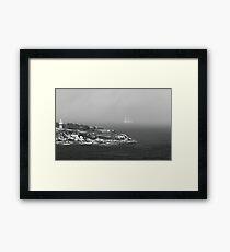 A schooner sails in fog during colonial times Old Sydney Framed Print
