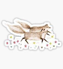 Running Foxes Sticker