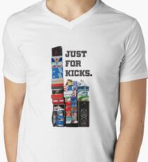 just for kicks! Mens V-Neck T-Shirt