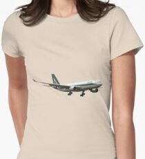 Alitalia, Airbus A330-202 Womens Fitted T-Shirt
