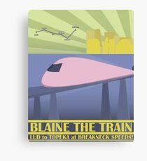 Travel Blaine Rail Canvas Print