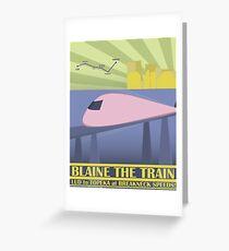 Travel Blaine Rail Greeting Card