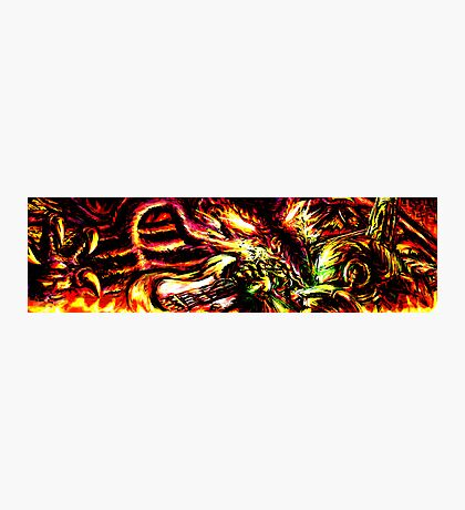 Metroid Metal: Ridley- Through the Fire.. Photographic Print