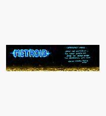 Metroid Metal: NES Theme Photographic Print