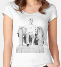 Lincoln Memorial Women's Fitted Scoop T-Shirt