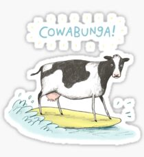 Cowabunga! Sticker