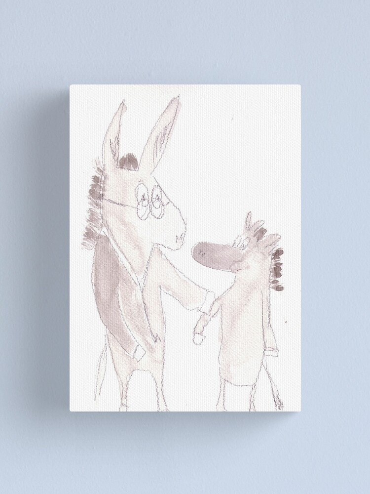 Alternate view of Dr. Donkey Canvas Print