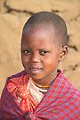 A Young Maasai Girl by Carole-Anne