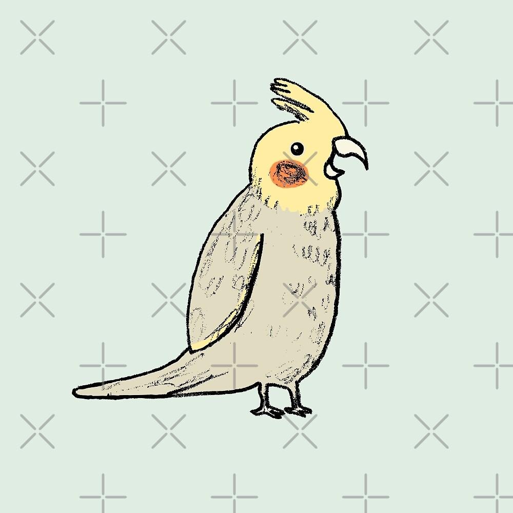 Happy Cockatiel by Sophie Corrigan