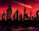 Blazing Skyline by LightningArts