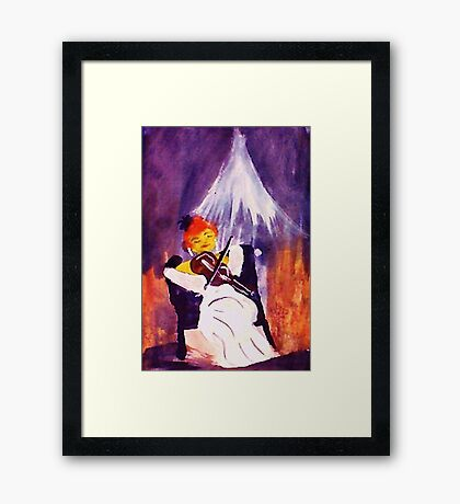 Performer, watercolor Framed Print