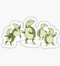 Dancing Turtles Sticker