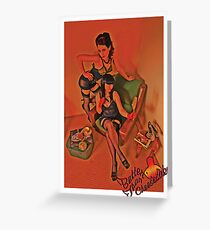BTC PinUp 6 Greeting Card
