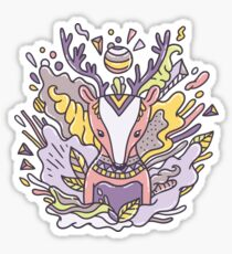 Abstract deer Sticker