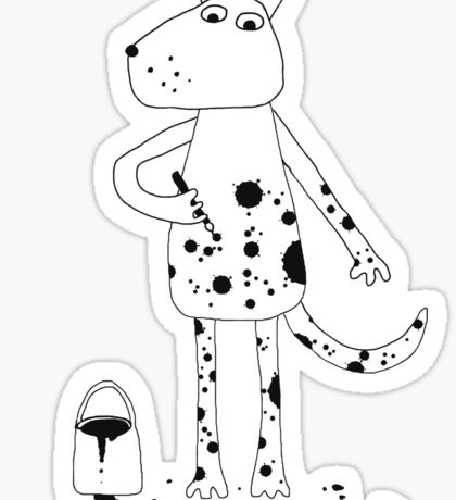 Dalmatian? Sticker