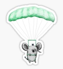 Cutie Parachuting Elephant Sticker