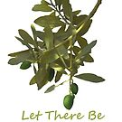 Let there be peace olive branch and text  by PhotoStock-Isra