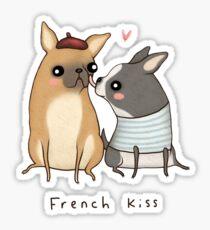 French Kiss Sticker