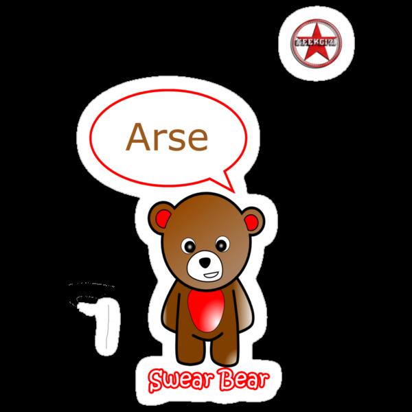 GeekGirl - Brown SwearBear by AdeGee