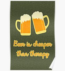 Beer Therapy Poster
