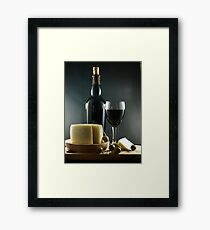 Wine, Cheese and Olives Framed Print