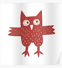 Red Owl Poster
