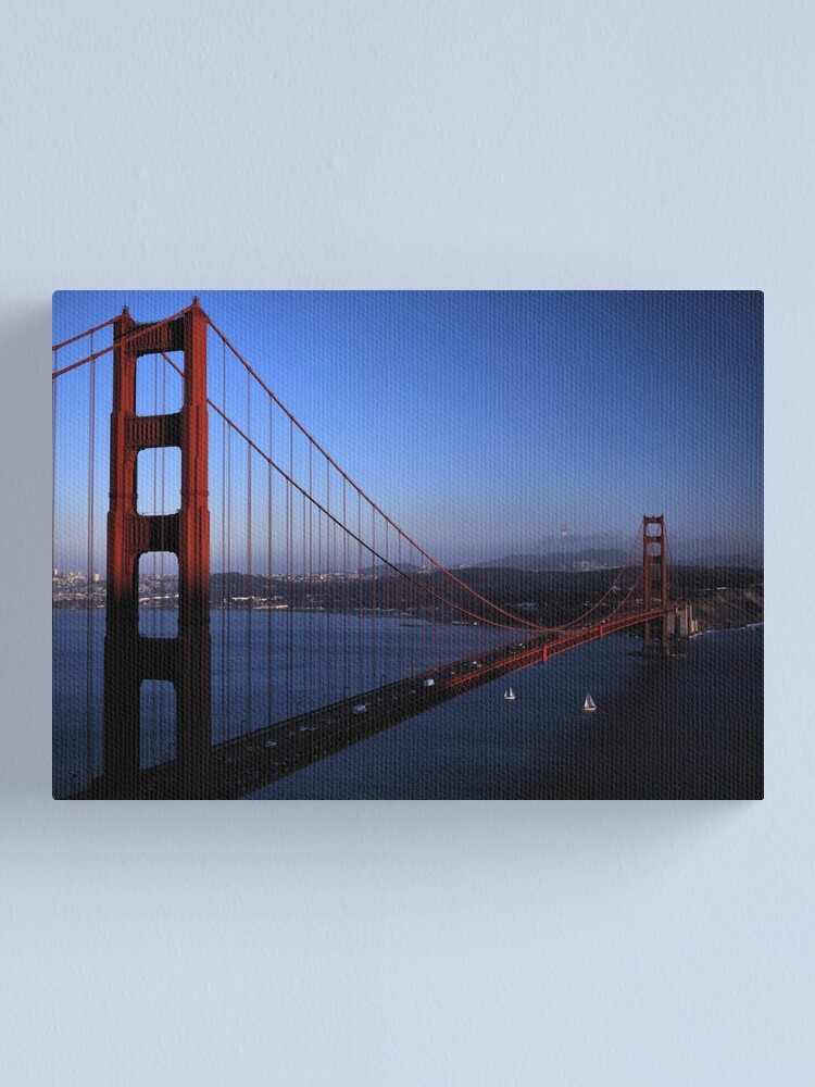 Alternate view of Golden Gate Bridge at Sunset Canvas Print